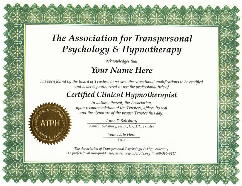 Clinical Hypnotherapist Certificate Program Package 2 Time Payments